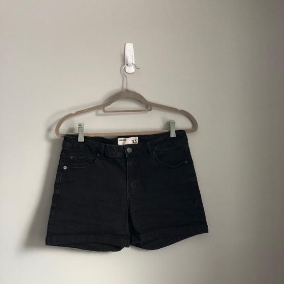 Black Garage Jean shorts